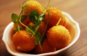 Helena's Restaurant Stellenbosch at Coopmanhuijs Boutique Hotel and Spa Helena's Golden fried goat's cheese croquettes