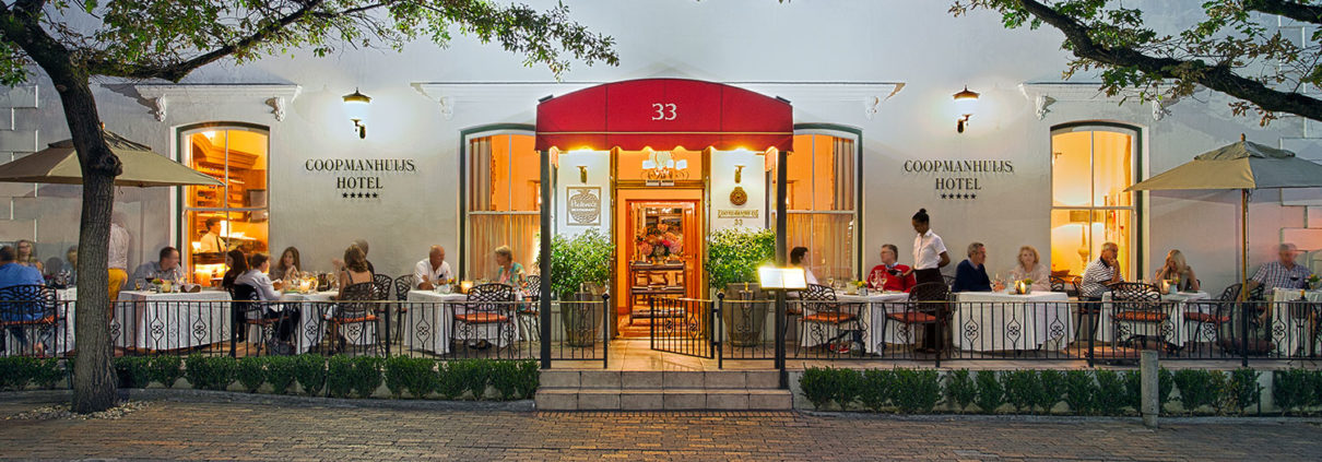 Restaurants in Stellenbosch, Helena's Restaurant at Coopmanhuijs Boutique Hotel and Spa