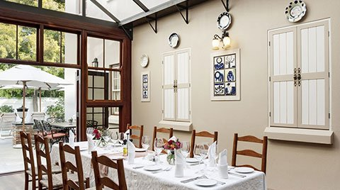 Helena's Restaurant at Coopmanhuijs Boutique Hotel and Spa is one of the best restaurants in Stellenbosch